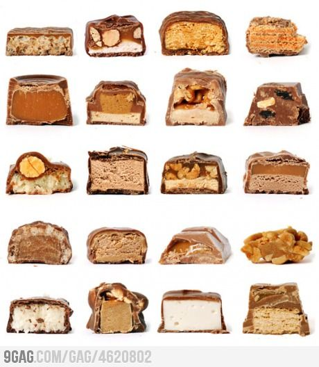 How many can you guess?: Candybar, Candy Bars, Love Chocolate, Bars Cross, Chocolate Candies, Nom Nom