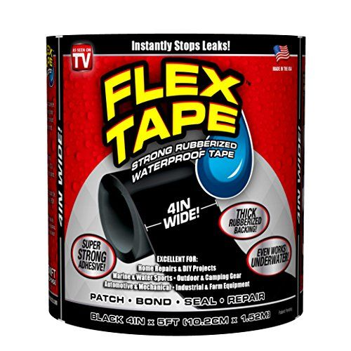 Flex Tape Rubberized Waterproof Tape 4 X 5 Black Flex Https Www Amazon Com Dp B01n5q3g8h Ref Cm Sw R Pi Dp U Waterproof Tape Strong Adhesive Adhesive