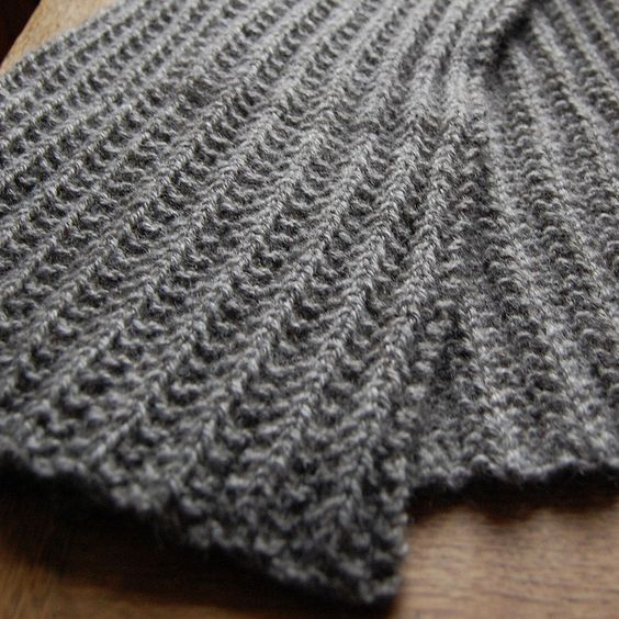 Knitting Pattern Mistake Rib Scarf : HetKabinets Mythral scarf - mistake rib stitch scarf knit with Mythral y...