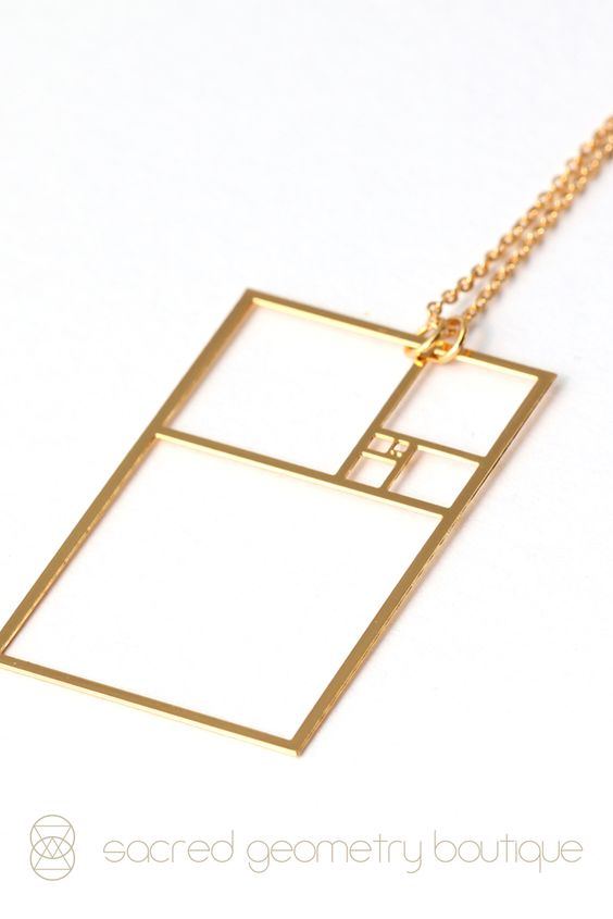 Golden Ratio Pendant - 22K Gold Plated Stainless Steel