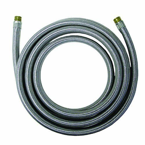 Watts WTS-SPCC60-44PB Stainless Steel Icemaker Supply Line, 5-Foot by Watts. $7.03. From the Manufacturer                This Watts stainless steel braided supply line starts with an extruded core of PVC tubing. The core is then over-braided with polyester yarn and another layer of PVC material. The final layer consists of stainless steel braid to form a strong, yet flexible supply line.                                    Product Description                This Watts ...