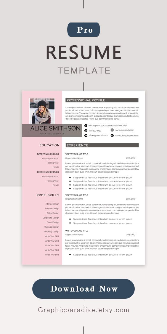 Resume Template Professional Resume Template Instant Download Resume With Photo Resume Design Resume Template Word Curriculum Vite Cv Resume Template Professional Resume Template Microsoft Word Resume Template