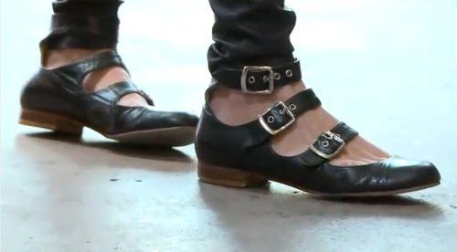 Vivienne Westwood Roman Three Straps Shoes Black #classics #street #style