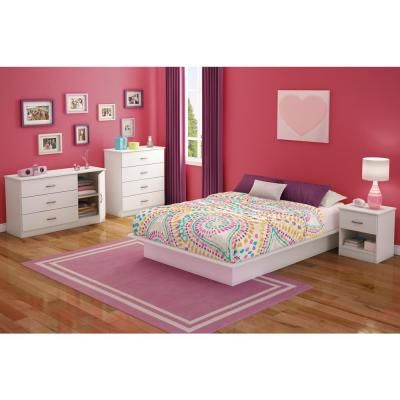 South Shore Libra 3-Drawer Pure White Dresser