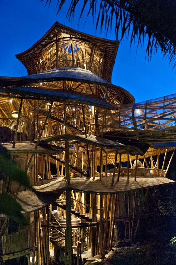 Sharma Springs, Green Village Bali is an eco initiative led by Ubud's Elora Hardy and her team at Ibuku – architects, designers and master craftsmen who pioneer all-new approaches to bamboo architecture and furniture design.: