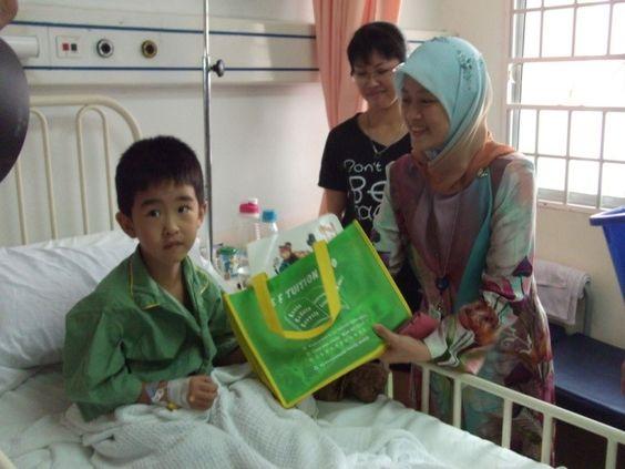 Cheering up the paediatrics ward