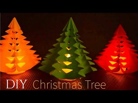 3d Paper Christmas Tree Paper Christmas Tree With Tealights Diy 3d Christmas Tree 3dchri Paper Christmas Tree Diy Paper Christmas Tree Diy 3d Christmas Tree