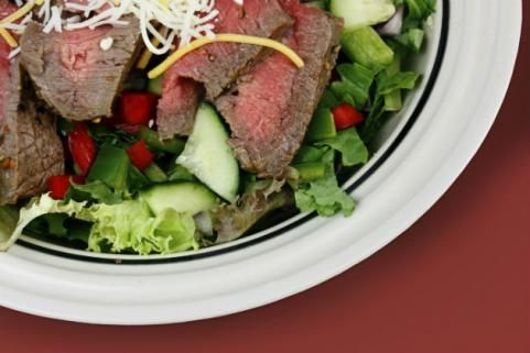 ... Top A Salad | food | Pinterest | Protein Power, Steaks and Protein
