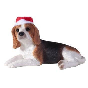 Beagle Christmas Ornament - Lying