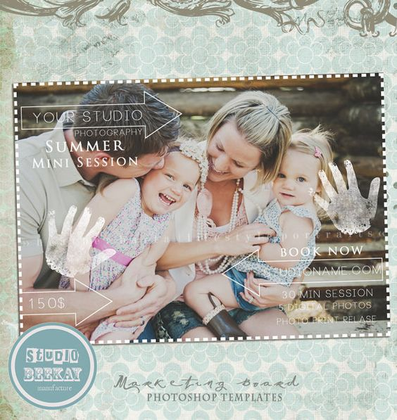INSTANT DOWNLOAD Magazine Mini Session Marketing by StudioBeeKay, $8.00