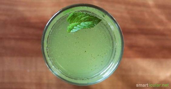 Du möchtest an heißen Tagen eine gesunde Erfrischung? Probiere mal diese leichte Minz-Limonade! Sie ist schnell selbstgemacht, preiswert und köstlich!
