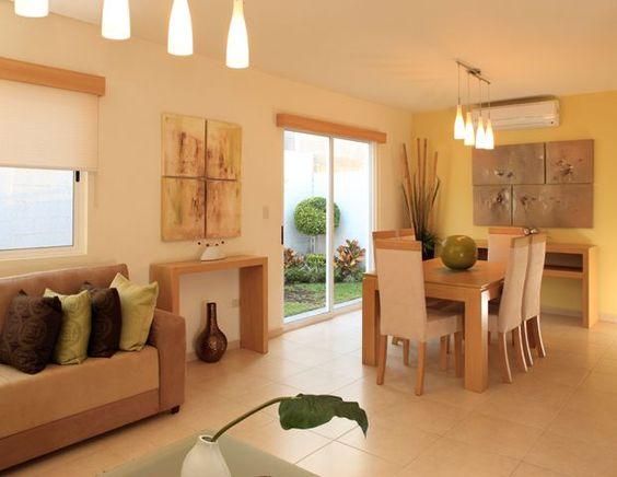 Ideas para decorar sala comedor livings colores calidos - Ideas para decorar salon comedor ...