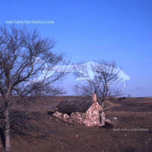 Marindahl - Distant View;Marindahl - Stone Cookhouse :: South Dakota Historical Photos