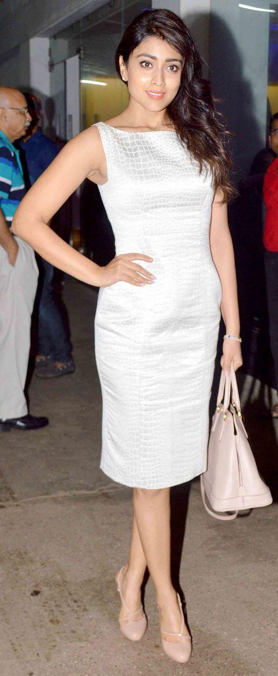 Shriya Saran at #Drishyam screening. #Bollywood #Fashion #Style #Beauty