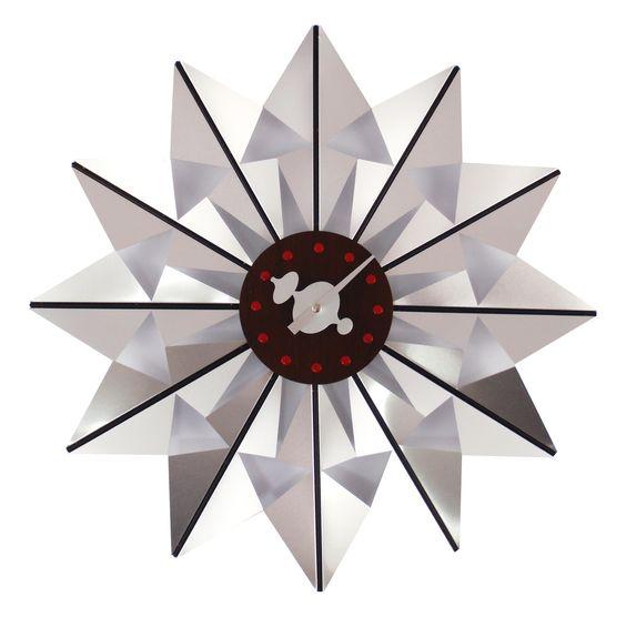 Telechron Butterfly Wall Clock in Silver