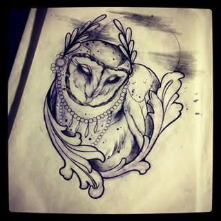 Gallery For gt Neo Traditional Owl Tattoo Flash