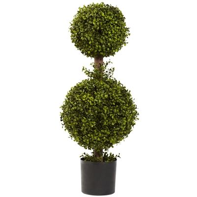 35 quot double boxwood topiary man has been taking trimmers and clippers