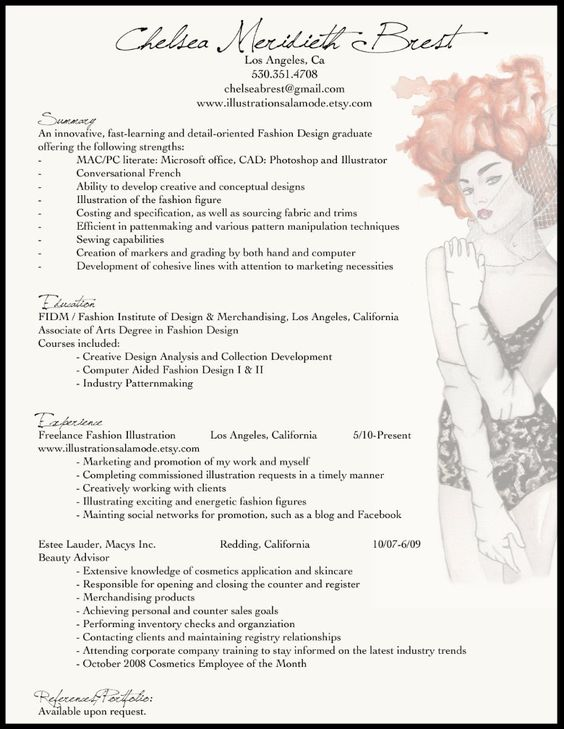fashion resume exle for the adhd me