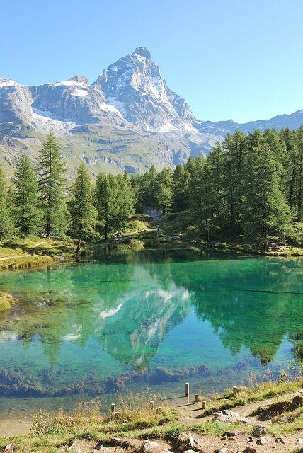 Lac Bleu Breuil - Les Perreres Centrale, Valle d'Aosta, Italy