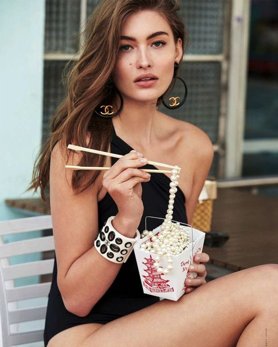 Pearls for lunch, pearls for dinner. @thecoveteur