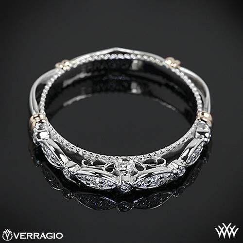 14k White Gold Verragio Parisian D 100w Scalloped Diamond Wedding Ring Whiteflash Diamonds Yeni Dizi Wedding Rings Wedding Rings Engagement Diamond Wedding Rings