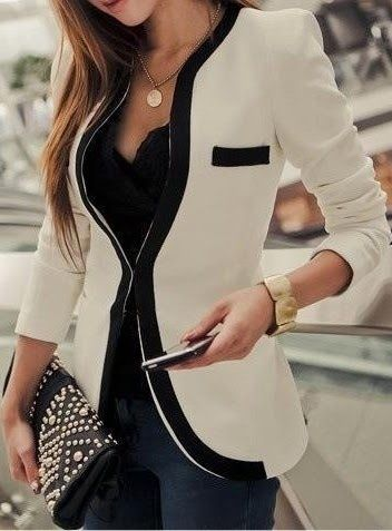 Just the jacket and necklace but not in the same out fit