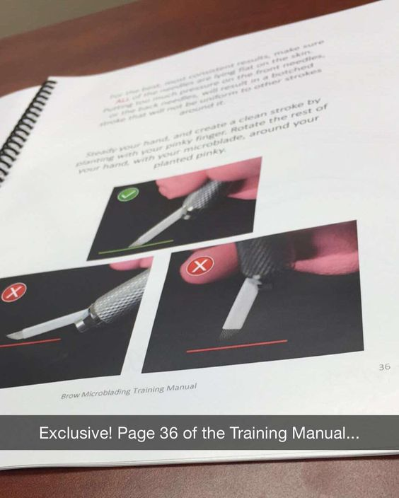 Exclusive Look At Our Brow Microblading Training Manual