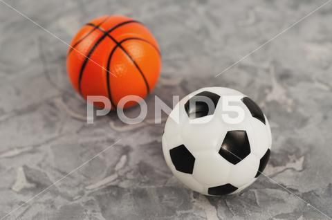 Two Soft Rubber Soccer And Basketball Balls On Old Worn Cement Stock Photos Ad Soccer Basketball Soft Rubber Basketball Ball Soccer Soft Rubber