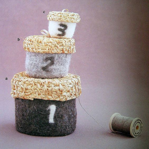 simple zakka and a bag of felt wool–containers | Flickr - Photo Sharing!