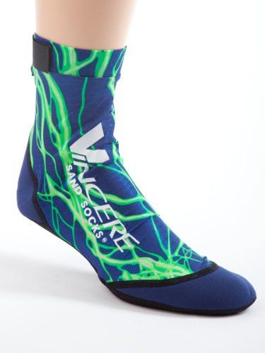 Vincere Sand Socks for Snorkeling, Beach Soccer, Sand Volleyball XXS Green lightning Sand Socks http://www.amazon.com/dp/B00A0LXWHC/ref=cm_sw_r_pi_dp_Fcw.tb02GS730