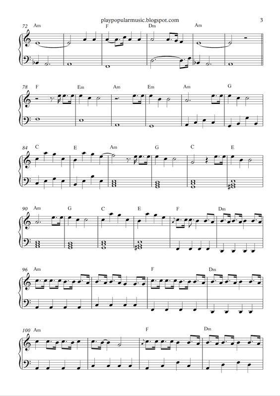 Free piano sheet music: Stressed out - Twenty one pilots .pdf We ...