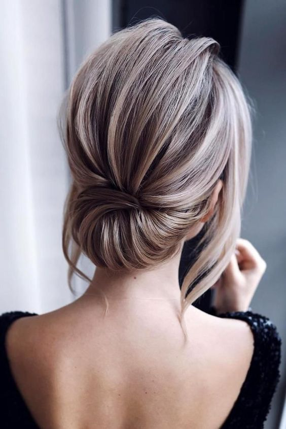 100 Elegant Wedding Ideas To Wow Your Guests Low Bun Updo Hairstyles With Braid Simple Hairstyles Short Wedding Hair Simple Wedding Hairstyles Hair Styles