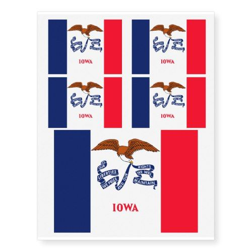 Iowa State Flag Design Temporary Tattoos Zazzle Com Flag Design Iowa State State Flags