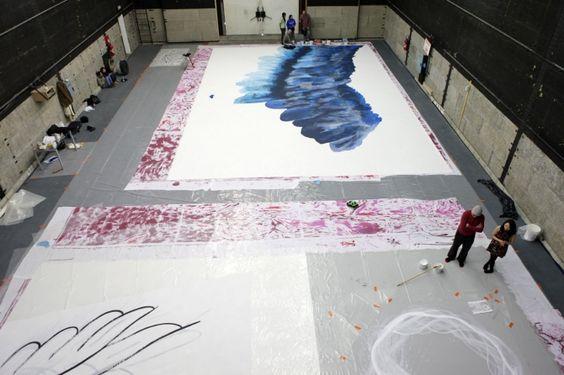 """""""Sysiphe et Icare"""" - Marc Van Helden Peinture grand format"""