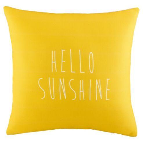 Hello Sunshine Cushion - Tesco - £8
