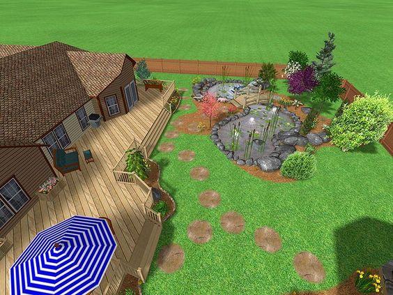 Backyard Decks And Patios | Landscaping ideas for backyard - garden ideas for small yards
