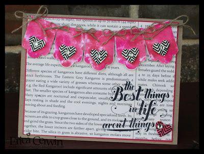 Baby wipes technique - Pink Buckaroo Designs, Erica Cerwin Stampin' Up Demonstrator, San Antonio, TX
