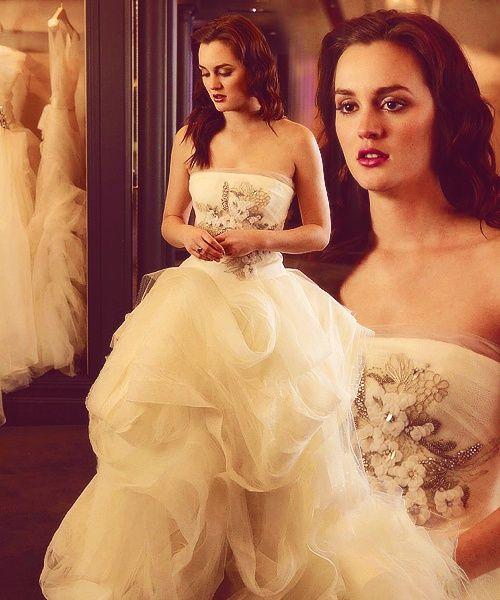 Leighton Meester Gossip Girl Wedding Dress By Vera Wang