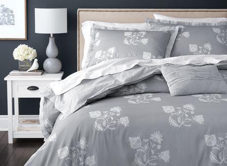 Hometrends Floral Duvet Cover Set Grey Double Queen Duvet Cover