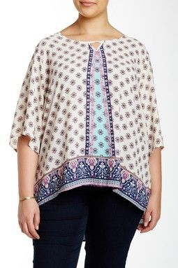 Printed Woven Blouse (Plus Size)