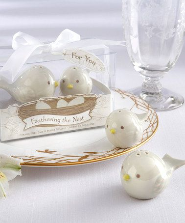 Take a look at this Feathering the Nest Salt & Pepper Shakers - Set of 12 by Kate Aspen on #zulily today!