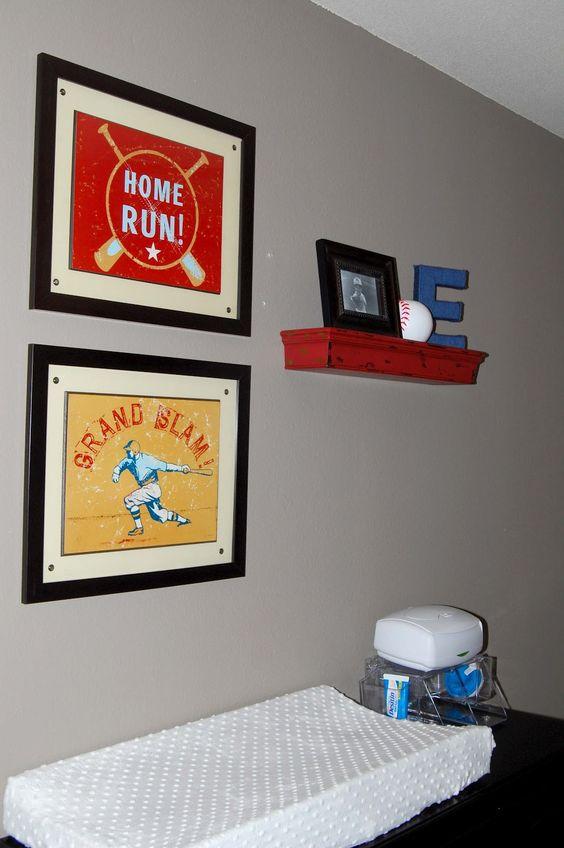 red navy nursery...cute red shelf
