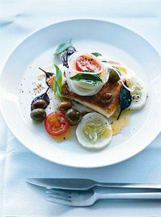 Simple but beautiful Greek salad.