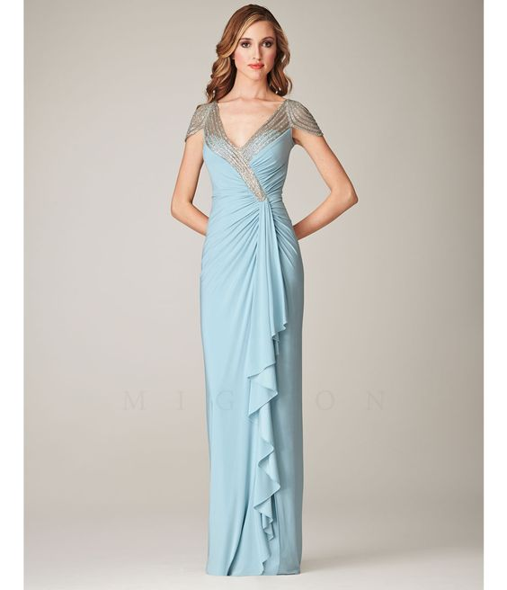 1930s Style Prom Dresses- Formal Dresses- Evening Gowns - Sleeve ...