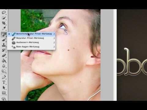▶ Photoshop Tutorial: Pickel entfernen/Haut verbessern (Gesichtsretusche) - YouTube