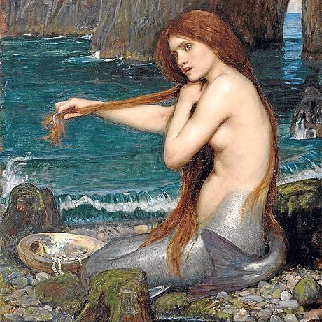 'A Mermaid' (detail) by the Pre-Raphaelite painter John William Waterhouse, 1900