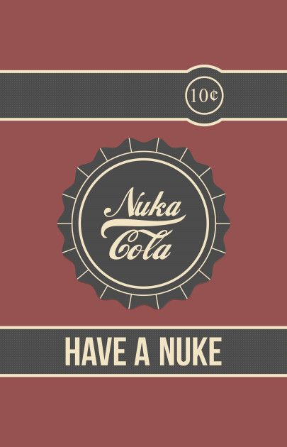 Awesome 'Nuka+Cola' design on TeePublic!