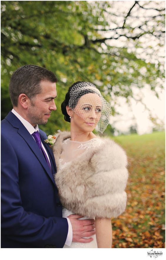 Jude and Colin on their Autumn wedding day last year.   Photography: Helen Russell