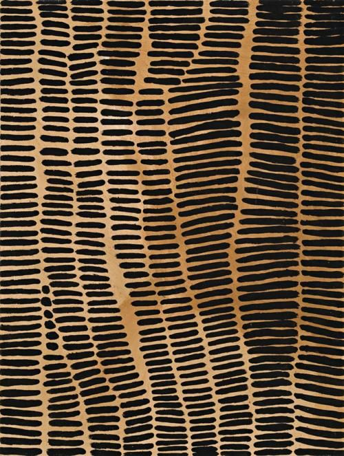 mondonoir: Lena Nyadbi, Jimbala Country (2001), natural earth pigments and synthetic binder on canvas
