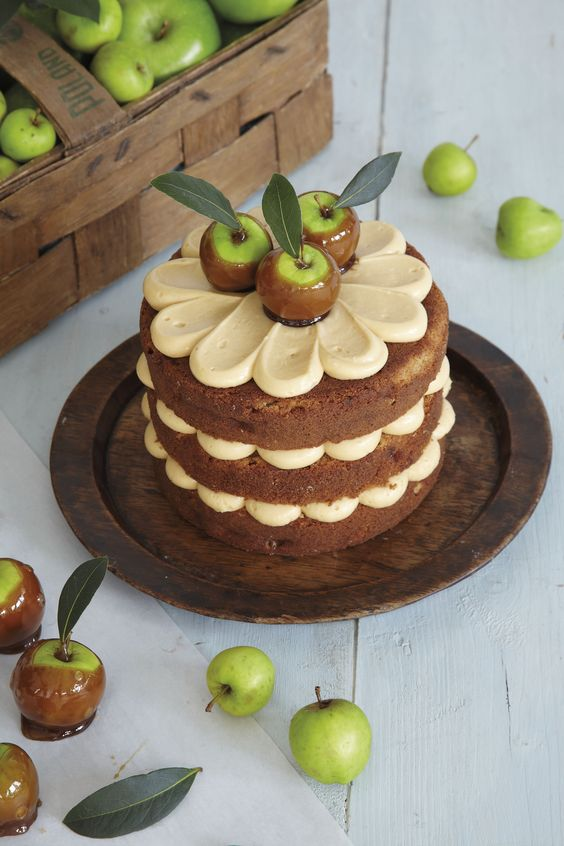 Toffee Apple Layer Cake by Peggy Porschen. Recipe taken from 'Love Layer Cakes' published by Quadrille, photography courtesy of Georgia Glynn Smith. http://www.peggyporschen.com/love-layer-cakes: